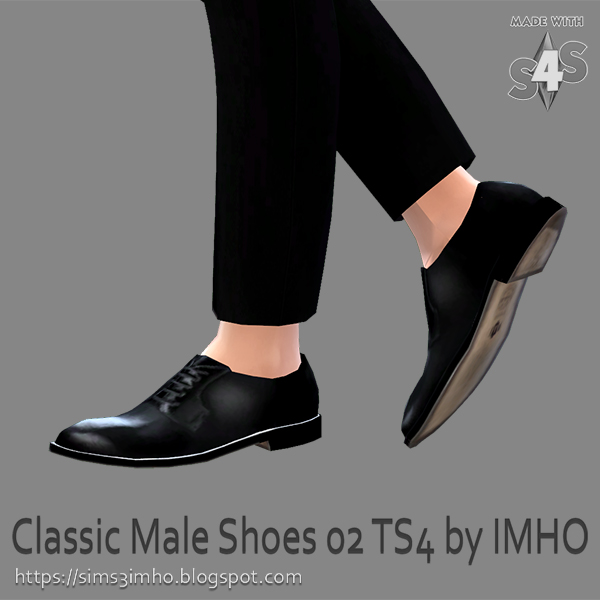 Sims 4 Classic Male Shoes #02 at IMHO Sims 4