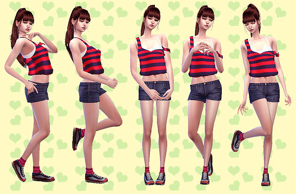Sims 4 Combination Pose 28 at A luckyday