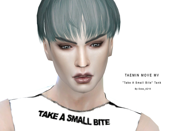 Sims 4 K Pop Take a Small Bite Tank by Eves 4216 at TSR