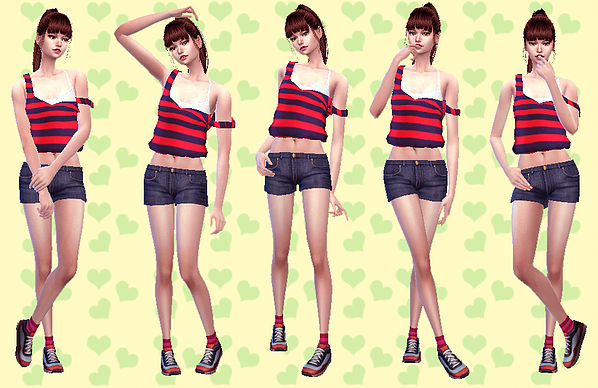 Combination Pose 28 at A luckyday image 2226 Sims 4 Updates