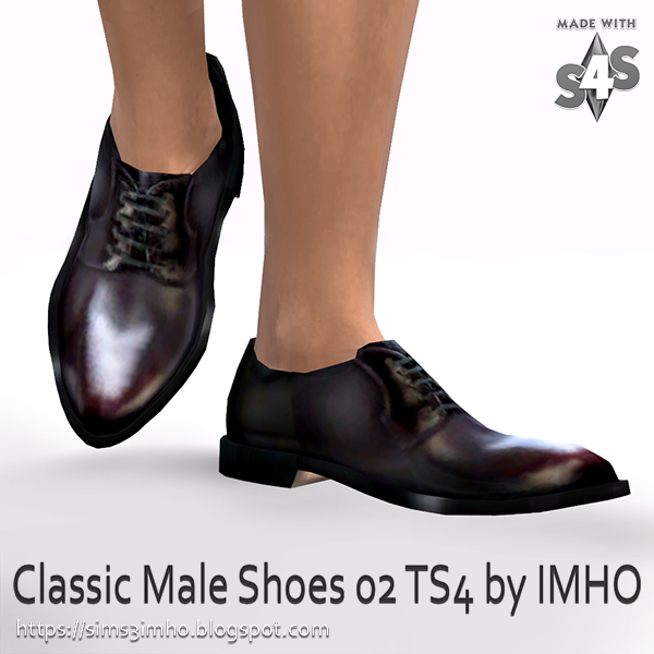 Classic Male Shoes #02 at IMHO Sims 4 image 223 Sims 4 Updates