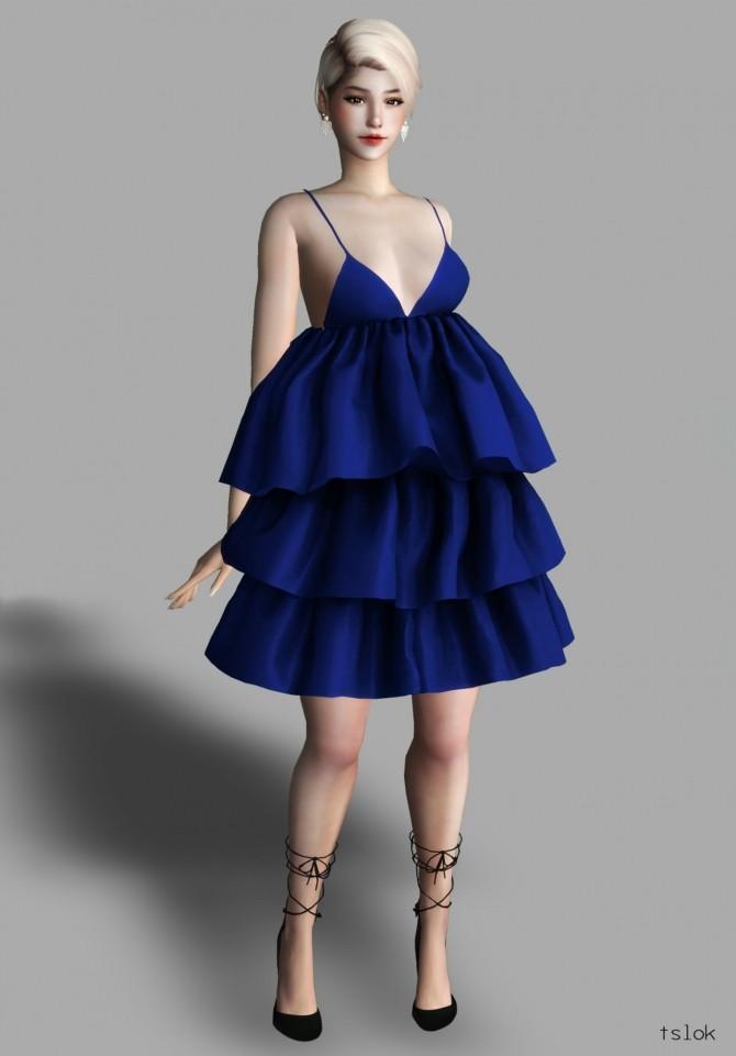 QT ruffle dress at TSLOK image 2232 670x961 Sims 4 Updates
