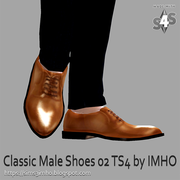 Classic Male Shoes #02 at IMHO Sims 4 image 224 Sims 4 Updates