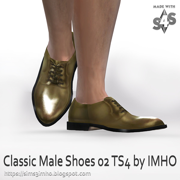 Classic Male Shoes #02 at IMHO Sims 4 image 225 Sims 4 Updates