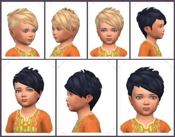 Sims 4 Baby'Slashed Hair at Birksches Sims Blog