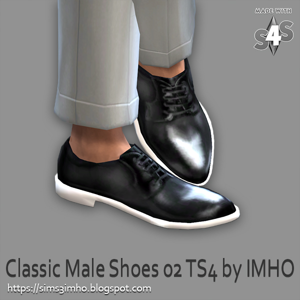 Classic Male Shoes #02 at IMHO Sims 4 image 226 Sims 4 Updates
