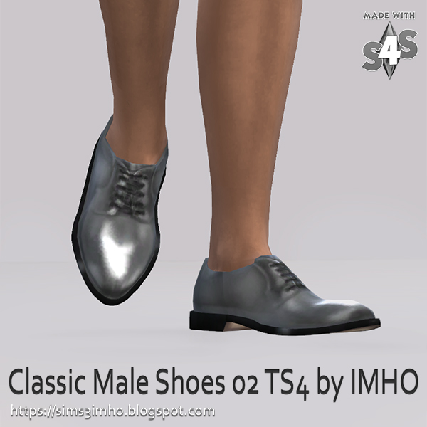 Classic Male Shoes #02 at IMHO Sims 4 image 229 Sims 4 Updates