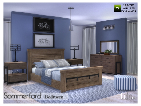 Sommerford Bedroom by Lulu265 at TSR image 23 Sims 4 Updates