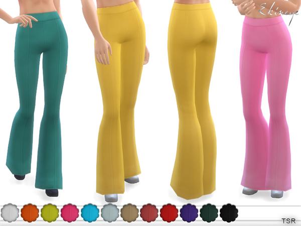 Sims 4 High Waist Flare Leg Pants by ekinege at TSR