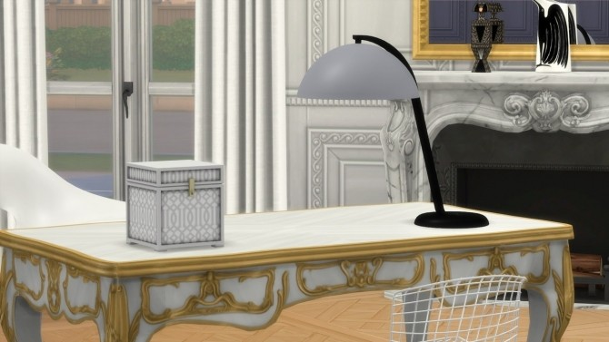 Sims 4 CLOCHE TABLE LAMP at Meinkatz Creations