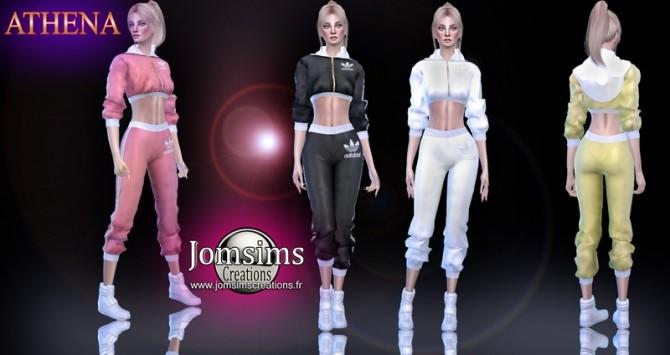 Sims 4 Athena satin sport set at Jomsims Creations