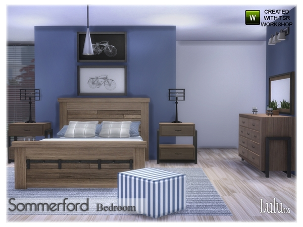 Sommerford Bedroom by Lulu265 at TSR image 24 Sims 4 Updates