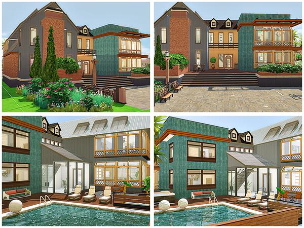 Sims 4 Ingrid modern house by Danuta720 at TSR