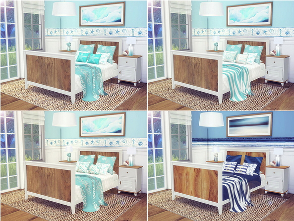 Coastal Bedroom by Sooky at Blooming Rosy image 2414 Sims 4 Updates