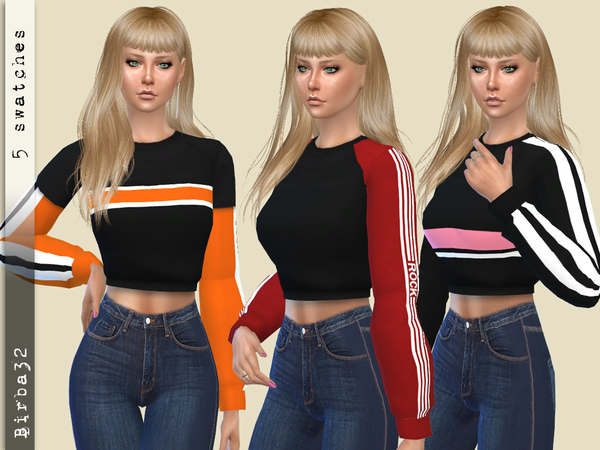 Nancy sweater by Birba32 at TSR image 2418 Sims 4 Updates