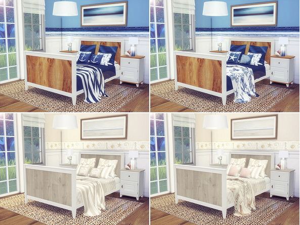 Coastal Bedroom by Sooky at Blooming Rosy image 2421 Sims 4 Updates