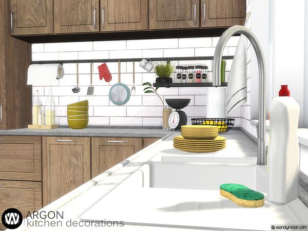 Sims 4 Argon Kitchen Decorations by wondymoon at TSR