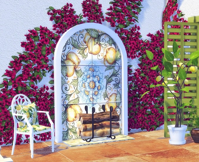 Sicilian Set Part 3 Doors and Fireplace by Sooky at Blooming Rosy image 2471 670x548 Sims 4 Updates