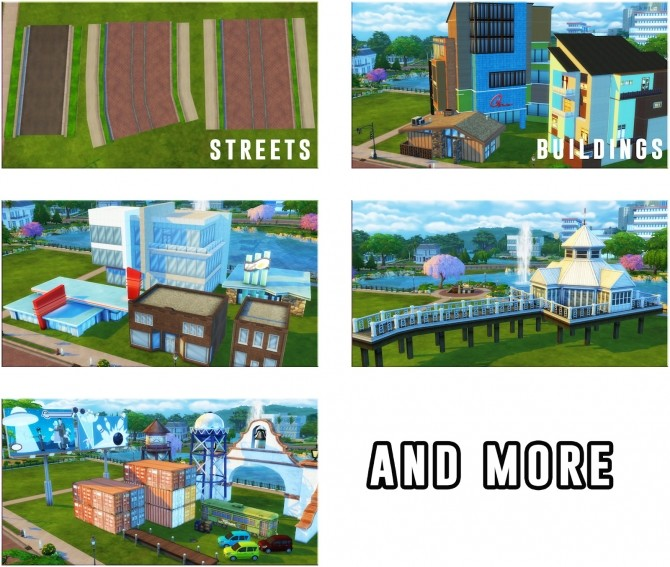 Sims 4 OBJETOS OF THE CITY at Victor Miguel