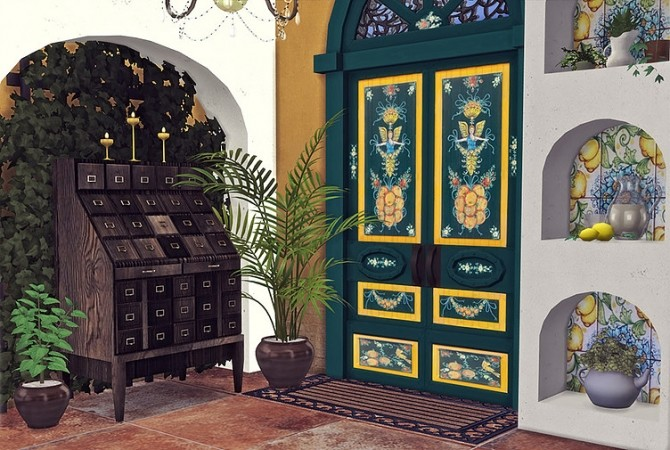 Sicilian Set Part 3 Doors and Fireplace by Sooky at Blooming Rosy image 2481 670x450 Sims 4 Updates