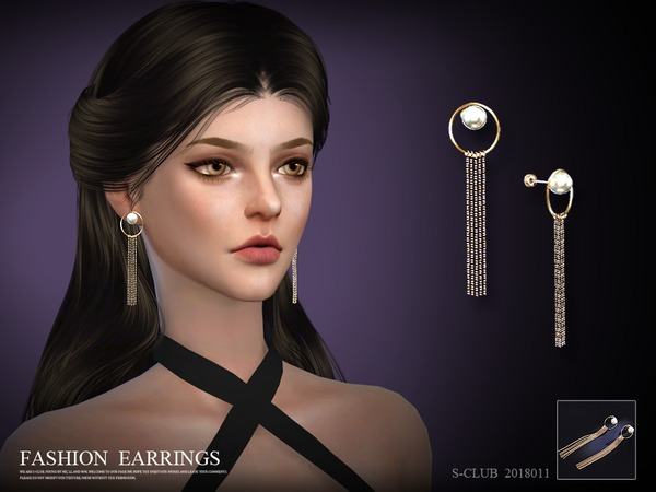 Earring 201811 by S Club LL at TSR image 2512 Sims 4 Updates