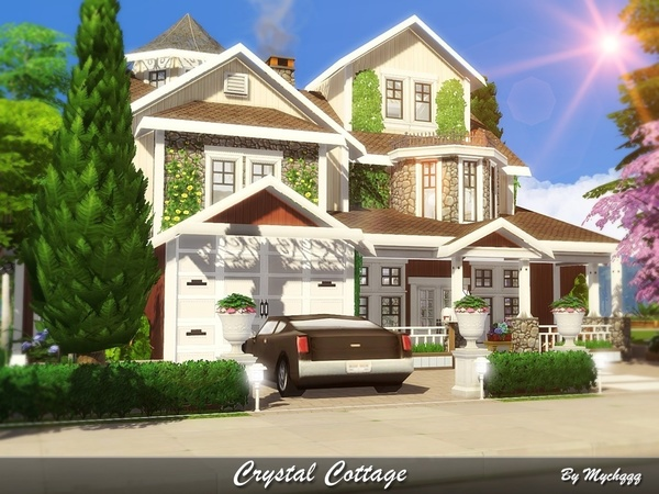 Crystal Cottage by MychQQQ at TSR image 2517 Sims 4 Updates