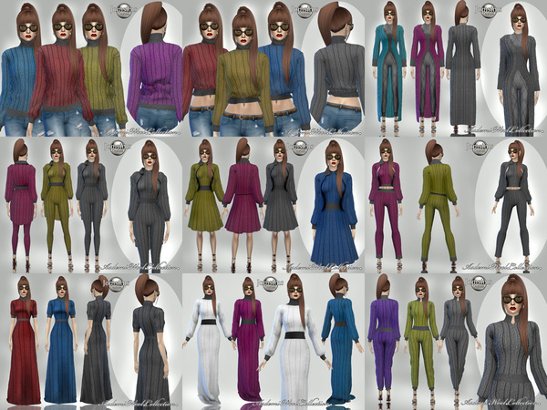 Sims 4 Asdemi wool outfit 2 by jomsims at TSR