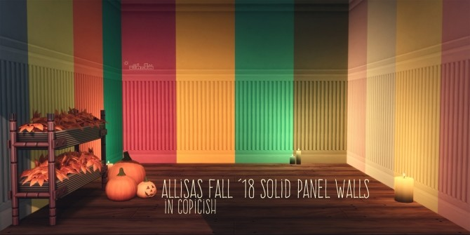 ALLISAS FALL '18 SOLID PANEL WALLS IN COPICISH at Picture Amoebae image 2593 670x335 Sims 4 Updates