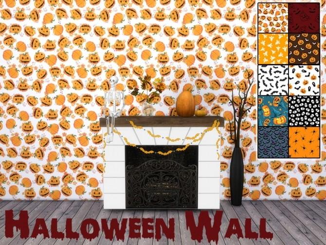 Sims 4 Halloween Wall at MODELSIMS4
