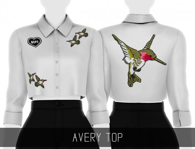 AVERY TOP at Simpliciaty image 26110 670x513 Sims 4 Updates
