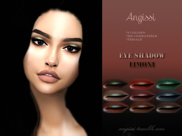LIMONI Eyeshadow by ANGISSI at TSR image 2624 Sims 4 Updates