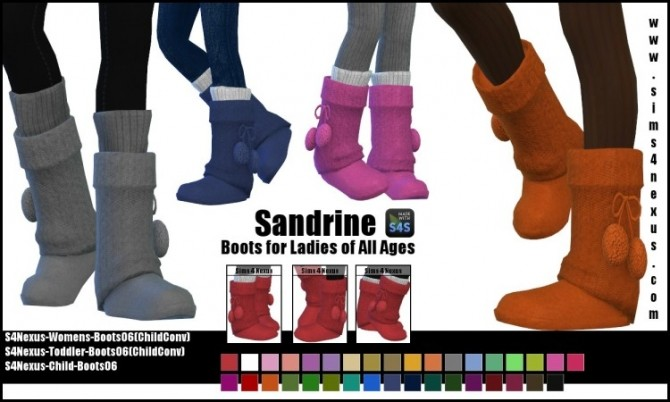 Sandrine boots F all ages by SamanthaGump at Sims 4 Nexus image 265 670x402 Sims 4 Updates
