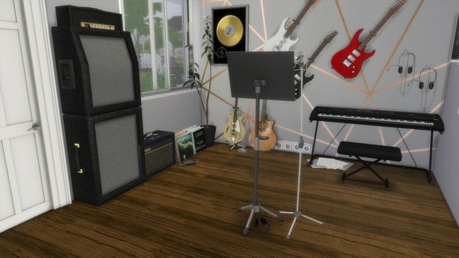 Sims 4 Music Room at MODELSIMS4