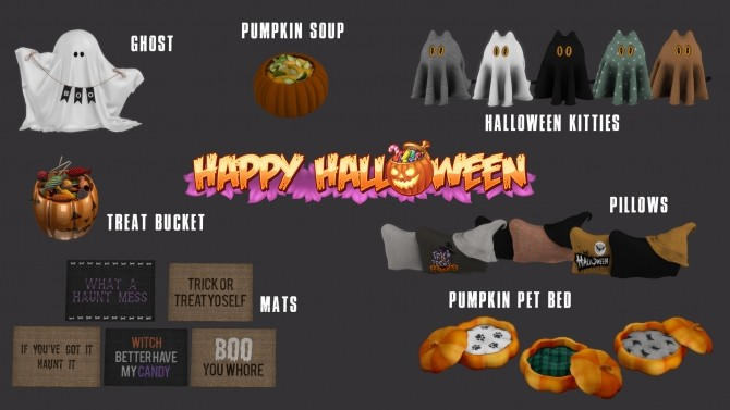 Happy Halloween set (P) at Leo Sims image 2693 670x377 Sims 4 Updates