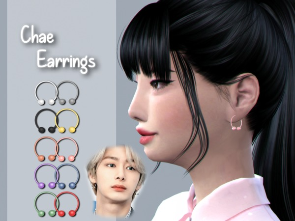 Sims 4 Chae Earrings by jealousypixel at TSR