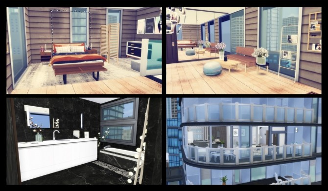 Sims 4 702 ZenView Apartment at Simming With Mary