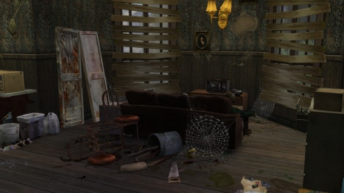 Sims 4 Abandoned House #2 at MODELSIMS4
