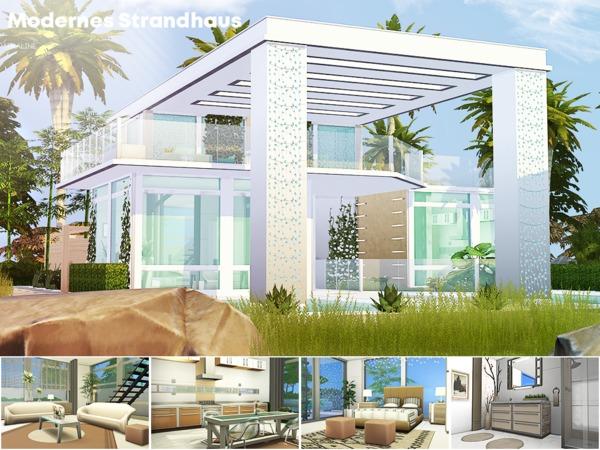 Modernes Strandhaus by Pralinesims at TSR image 2713 Sims 4 Updates