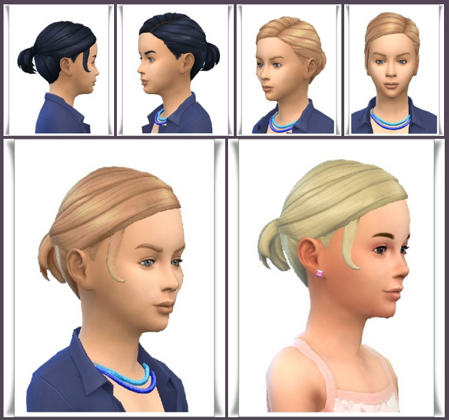 Fancy Small Ponytail Kids at Birksches Sims Blog image 2742 Sims 4 Updates