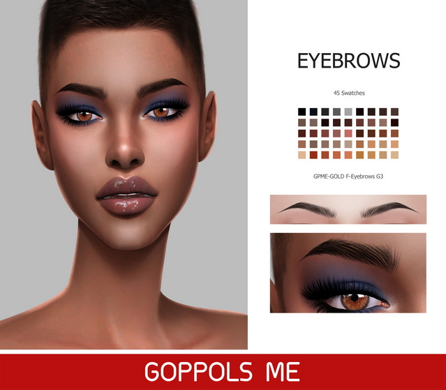 GPME GOLD F Eyebrows G3 at GOPPOLS Me image 2762 Sims 4 Updates