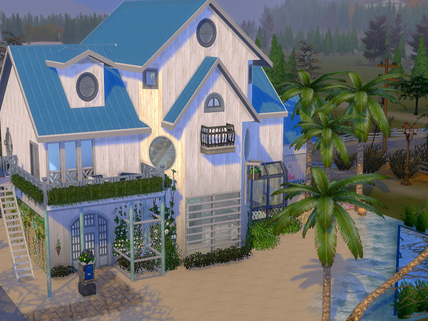 Sims 4 Royal Beach by Sapphyra at TSR