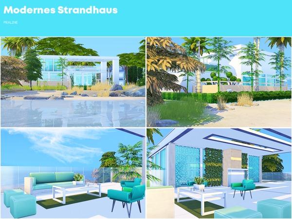 Modernes Strandhaus by Pralinesims at TSR image 2813 Sims 4 Updates