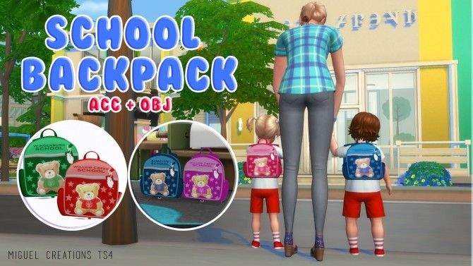 SCHOOL BACKPACK at Victor Miguel image 2852 670x377 Sims 4 Updates