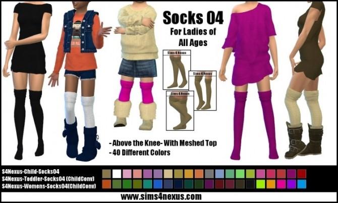 Socks 04 by SamanthaGump at Sims 4 Nexus image 2902 670x402 Sims 4 Updates