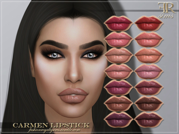 Sims 4 FRS Carmen Lipstick by FashionRoyaltySims at TSR