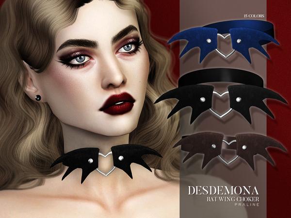Sims 4 Desdemona Choker by Pralinesims at TSR