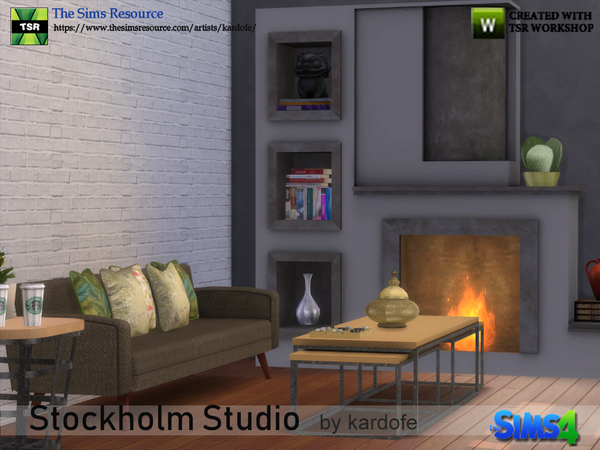 Sims 4 Stockholm Studio by kardofe at TSR