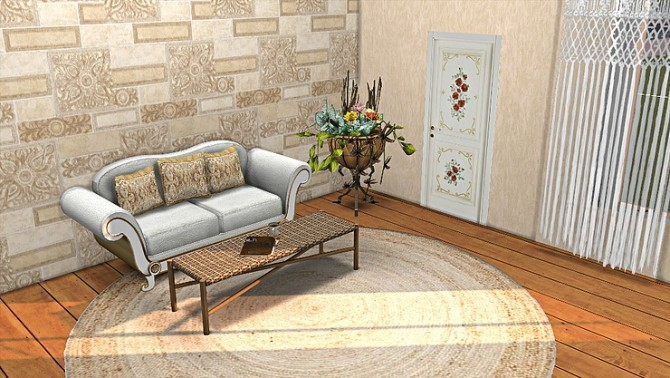 Wall Sticker old Doors by TaTschu at Blooming Rosy image 2963 670x378 Sims 4 Updates