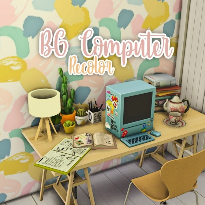 BG computer recolor at Miss Ruby Bird image 2971 670x670 Sims 4 Updates