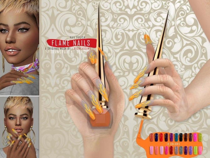 MINI COLLETION NAILS by Thiago Mitchell at REDHEADSIMS image 2991 670x503 Sims 4 Updates